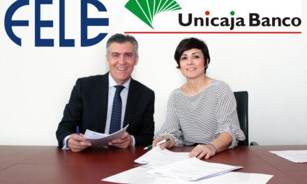 Fele y Unicaja Banco renuevan su convenio de colaboración para facilitar crédito a 4.500 empresas  de la provincia